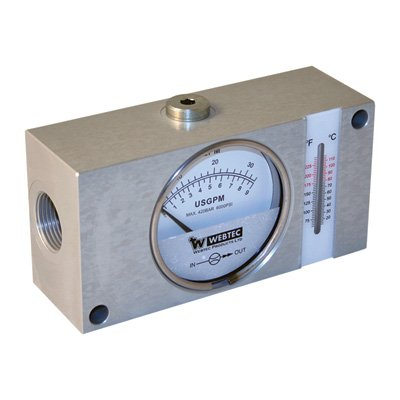 Webtech Flow Meter With Thermometer by Webster Instruments