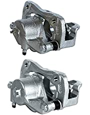 AutoShack BC30230PR Pair Set of 2 Front Driver and Passenger Side Disc Brake Caliper Assembly Replacement for 2006-2010 Sonata 2007-2010 Elantra 2006-2010 Kia Optima 2007-2010 Magentis 2010-2013 Soul