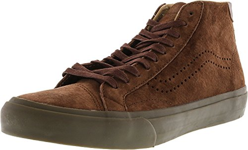 Vans Mens Court Mid Dx Lage Top Lace Up Fashion Sneakers Bruin