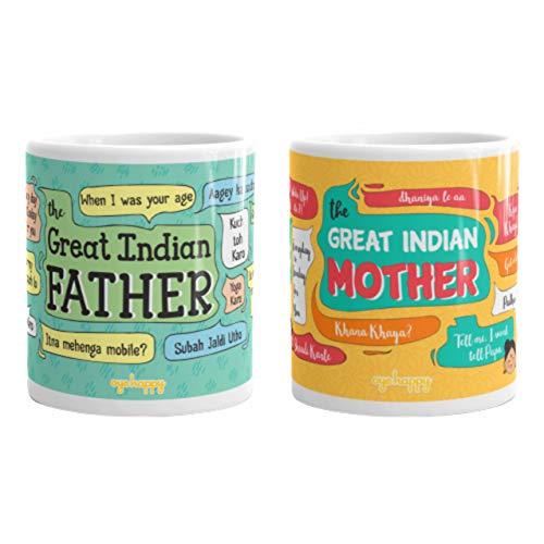 Oye Happy Ceramic Mug – 2 Pieces, Multicolour Price & Reviews