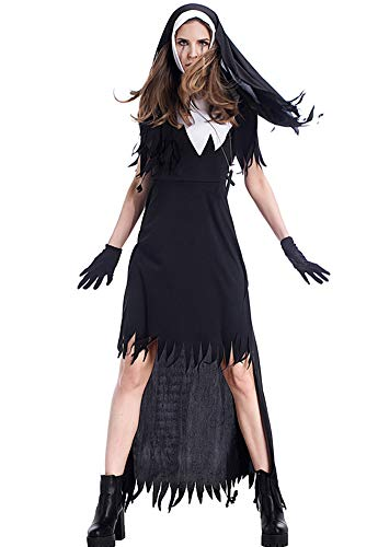 Tutu Dreams Women Scary Tattered Nun Zombie Costumes Halloween Carnival Party ... (X-Large)