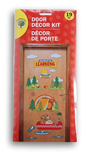 Greenbrier International ''Hooked on Learning'' Camping Themed Door Decor Kit - 19 Piece