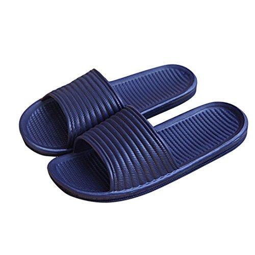 Herren Hausschuhe, Zolimx Streifen flache Bad Hausschuhe Sommer Indoor & Outdoor Sandalen Marine