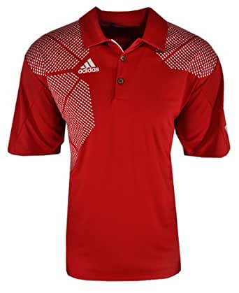 Adidas Mens Us Open Polo Small Red/Chrome