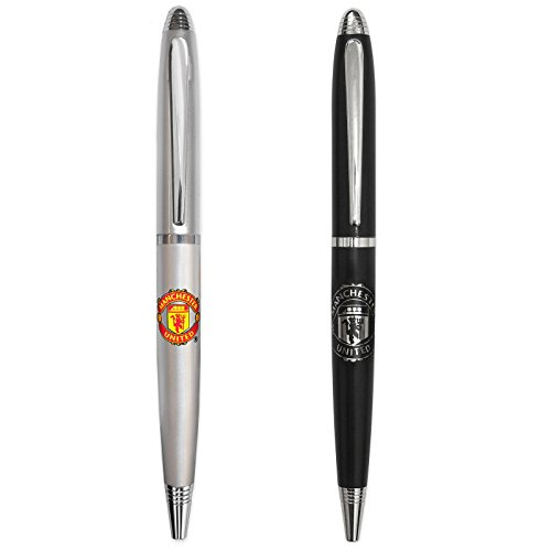 Manchester United FC Official Soccer Gift Boxed 2 Pk Chrome Ballpoint Pen Set Manchester United Christmas