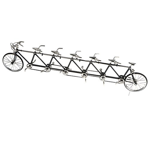 Simulated Alloy Tandem Bike ATVs Model Road Bicycle Vehicles Model Decoration Gift Home Showcase Decor ()