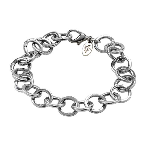 DANFORTH - Layla Bracelet - Pewter - 8 Inch Width - Handcrafted - Made in USA