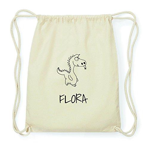 JOllipets FLORA Hipster Turnbeutel Tasche Rucksack aus Baumwolle Design: Drache