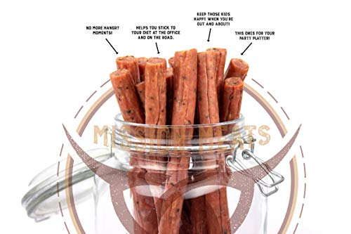 Mission Meats Cracked Pepper Pork Sticks Antibiotic Free Gluten Free MSG Free Nitrate Nitrite Free All Natural