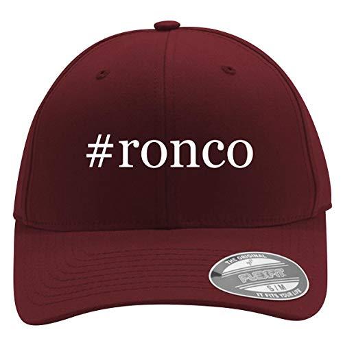 #Ronco - Men's Hashtag Flexfit Baseball Cap Hat, Maroon, Large/X-Large