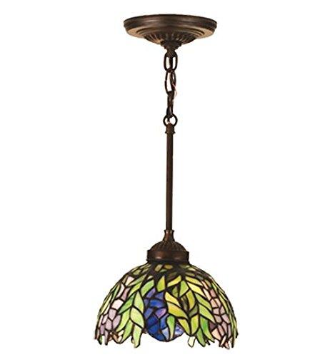 Meyda Tiffany 48922 Honey Locust Mini Pendant, Mahogany ()