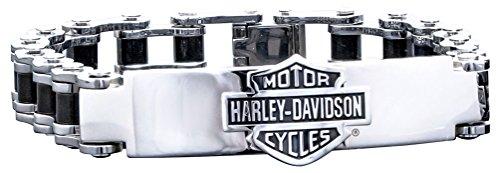 Harley-Davidson Men's Bike Chain ID Bracelet, Stainless Steel HSB0071-7.5 (Harley Bracelet Men)