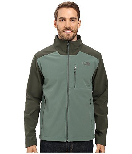 Green North Face (The North Face Men's Apex Bionic 2 Jacket Duck Green/Climbing Ivy Green (Prior Season) Large)