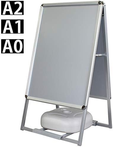 A型看板 スタンド型 両面 ポスター A1 ベース+容器型重しセット 防水 屋外 立て看板 風対策重し アルミフレーム製