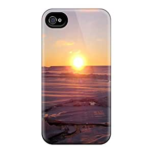 New Fashion Premium Tpu Case Cover For Iphone 4/4s - Warmest Sunset