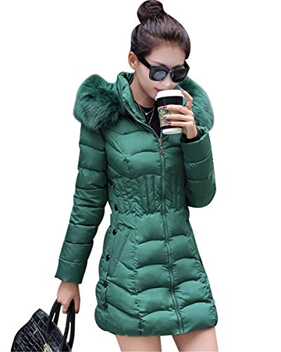 Doudoune Femme Manches Longues Warm paissir Parka Hiver avec Capuchon Fourrure Mode Coat Elgante Slim Fit De Haute Qualit breal Doudoune Manteau Outwear Hiver Grn