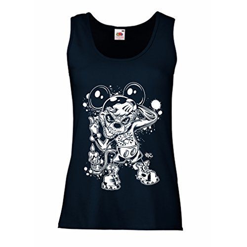 lepni.me Women's Tank Top A Mouse with an Amazing Halloween Party Costume (Medium Blue Multi Color)