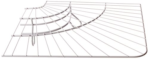 Rubbermaid Wire - Rubbermaid FreeSlide Wire Shelving, White, 16-inch Corner (FG3G4000WHT)
