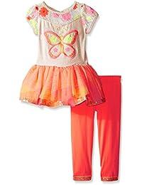 Big Girls' Butterfly Applique Tutu Legging Set