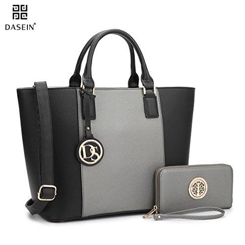 dasein-womens-top-handle-structured-two-tone-tote-bag-satchel-handbag-shoulder-bag-with-shoulder-str