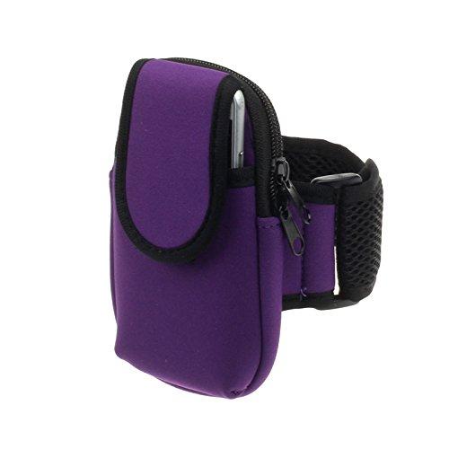 Deet® Violet Apple iPhone 5/5C/5S/Sport/Course à pied/Cyclisme Bras de Groupe avec poche zippée pour les clés, argent ou vos objets de valeur