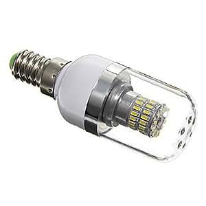 wdca E14 5W 48xSMD 3014 350LM 5500-6500K Cool White Light LED Corn Bulbs (AC 85-265)