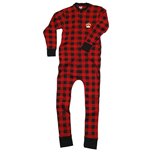 Lazy One Cotton Knit (Lazy One Cotton Bear Cheeks Flapjack Pajamas (Red Plaid, 2T))