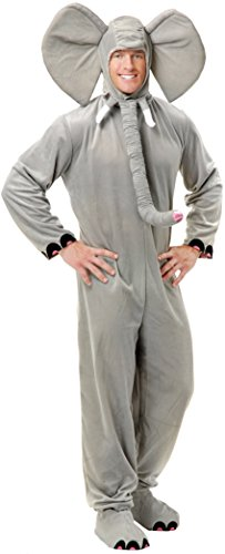 Charades Adult Unisex Mens Womens Elephant Halloween Costume XL Gray -