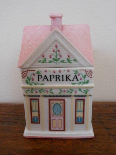 Lenox 'Spice Village' Porcelain Victorian House Spice Jar - Paprika