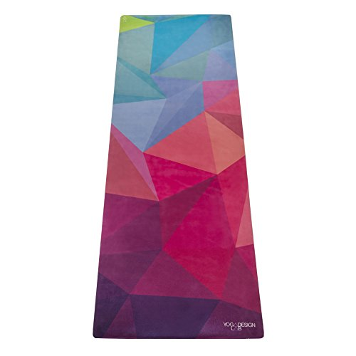 The Combo Yoga Mat 1 mm. TRAVEL VERSION. Lightweight, Ultra-Foldable, Non-slip, Mat/Towel Designed to Grip Better w/ Sweat! Machine Washable, Eco-Friendly. Just Fold & Go! (Geo)