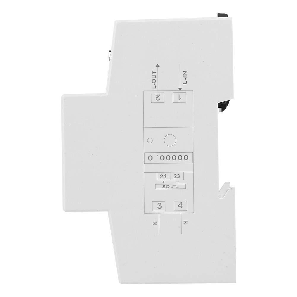 Keenso 5-80A 230V 50Hz Ecran de E/étro/éclairage Num/érique Wattm/ètre Monophas/é Montage sur Rail DIN Compteur dEnergie LCD