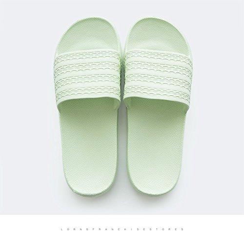 DogHaccd Zapatillas,Inicio baño baño zapatillas de verano parejas femeninas interior anti-deslizante de plástico inicio cool zapatillas macho Luz verde1