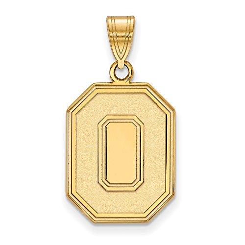 Roy Rose Jewelry 14K Yellow Gold LogoArt Ohio State University Large Pendant - Ohio State University Seal Pendant