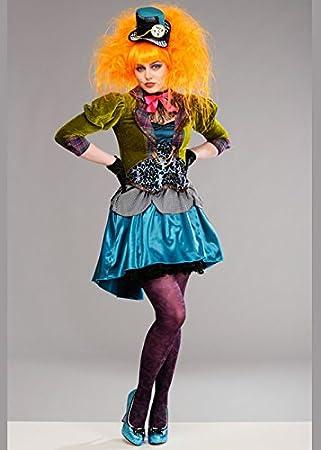 Magic Box Disfraz de sombrerera Loca de Lujo para Mujer Adulta S (UK 8-10)   Amazon.es  Juguetes y juegos 5897a4d7866
