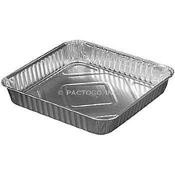 Amazon Com 8x8 Square Cake Foil Pan 500 Cs Kitchen Amp Dining
