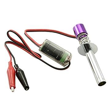 Goliton® mejorada 6-12V resplandor de arranque de encendido electrónico encendedor enchufe para Nitro Desarrollado Modelo RC Coche Barco - Purple: ...