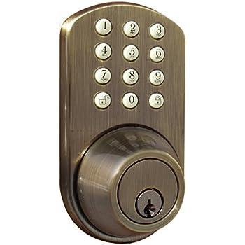 Lovely MiLocks TF 02AQ Digital Deadbolt Door Lock With Electronic Keypad For Exterior  Doors, Antique