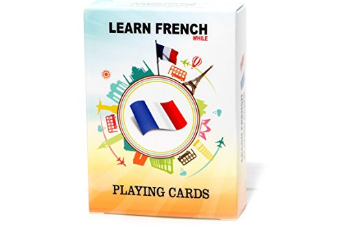 Learn French While Playing Your Favorite Card Game - Works for beginners too - Fun, Visual French Language Flash Cards with Phonetic Spelling - Learn New Vocabulary & Numbers Easily (Best Tools To Learn French)