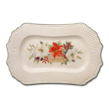 Mikasa Italian Countryside 'Festive' Rectangular Serving Platter, 14-1/2-Inch