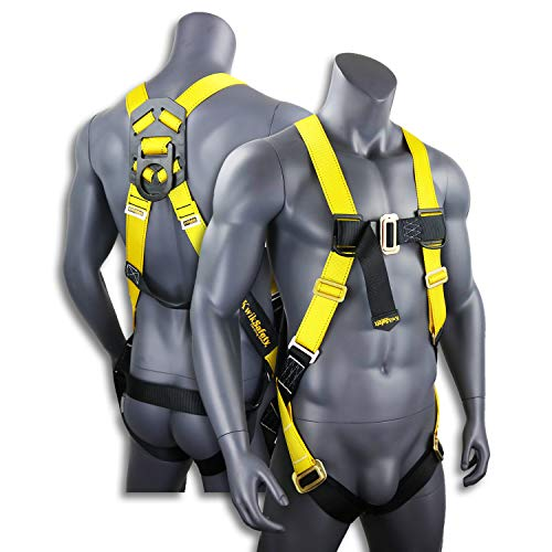 KwikSafety (Charlotte, NC) TORNADO 1D Fall Protection Full Body Safety Harness | OSHA ANSI Industrial Roofing Tool Personal Protection Equipment | Construction Carpenter Scaffolding Contractor