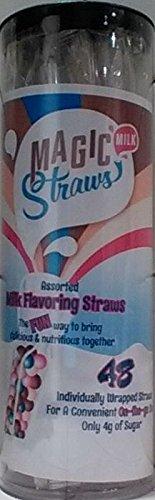 Chocolate Straws (Milk Magic, Milk Flavoring Straws, Variety Pack, 48 Ct, Possible Flavors, Chocolate, Strawberry, Vanilla Milkshake, Cookies & Cream, Strawberry Banana, Wild Berry, Orange Cream, Banana, and Chocolate Peanut Butter)