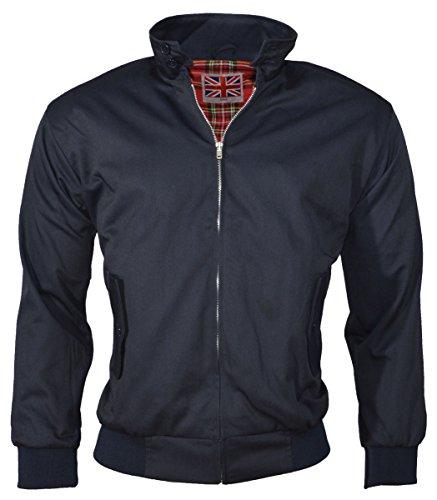 Dallaswear - Blouson Rétro Style Aviateur pour Hommes - Bleu marine, Medium