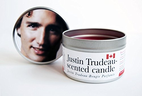 Justin Trudeau-Scented Candle, 16 oz tin