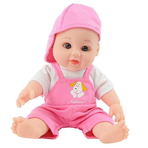 TUSALMO 12 inch Vinyl Newborn Baby Dolls for Children's and Granddaughters Holiday Birthday Gift, Lifelike Reborn Washable Silicone Doll, Reborn Baby ()