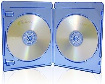 25 x Discos de doble (2) Blu-ray 11 mm cajas de almacenaje con ...