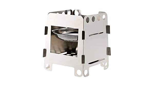 Yosooo Outdoor Portable Stainless Steel Wood Burning Stove Windproof Camping Picnic Stoves for Outdoor Picnic Camping Use