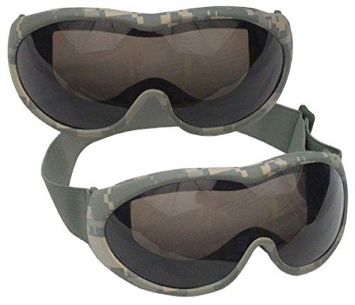 US Military Army USMC Marines Style ACU Digital Camo Desert Tactical Airsoft Shatterproof Anti-Scratch Anti-Fog UV400 (Acu Digital Desert Goggles)