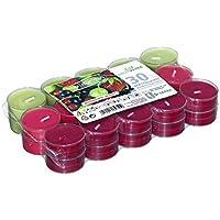 Smart Planet® - Velas de Ambiente de Bayas del Bosque – 30 Unidades – Velas de té en Funda Transparente – Velas aromáticas con Agradable Olor a Bayas