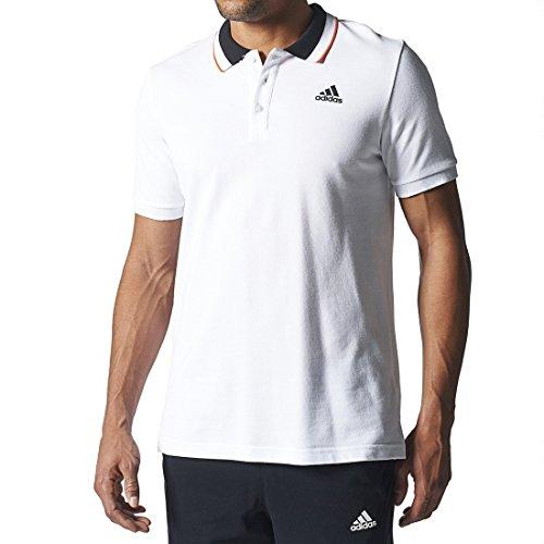 adidas Herren Poloshirt Sport Essentials, weiß/schwarz, M, S12328