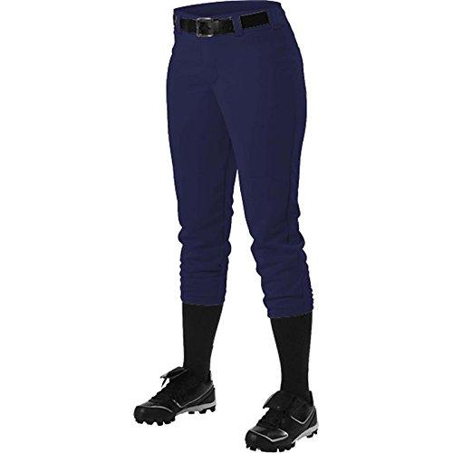 Alleson Athletic Women 's Softball Pants withベルトループ B00I7TD9TA L|Navy Navy L